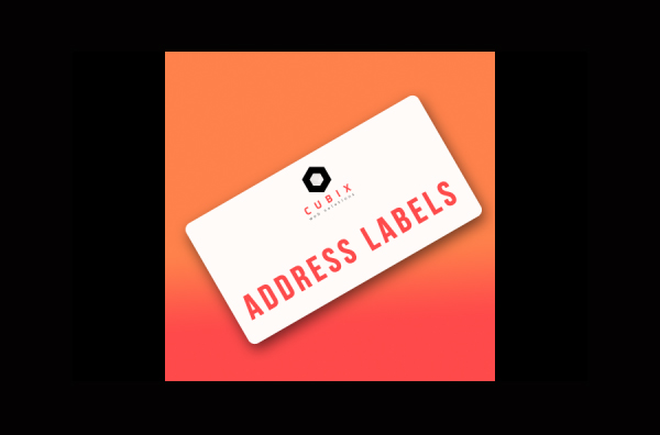 cubix address printing labels